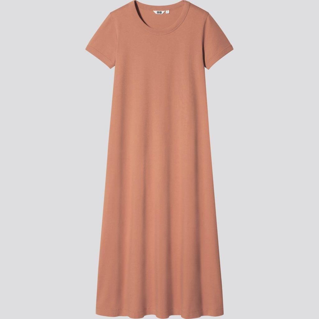 女裝 U AIRism棉質A字型連身長裙 9 (原價 9),備有多色選擇