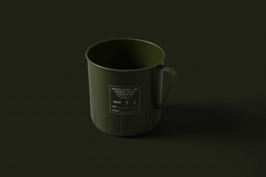 MaskOn X INCREDIBLE X 紅 A 軍綠色水杯