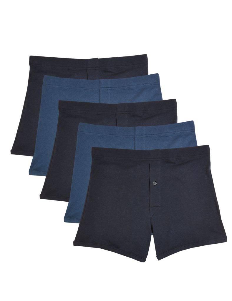 五件裝棉質平腳內褲  新抵價9