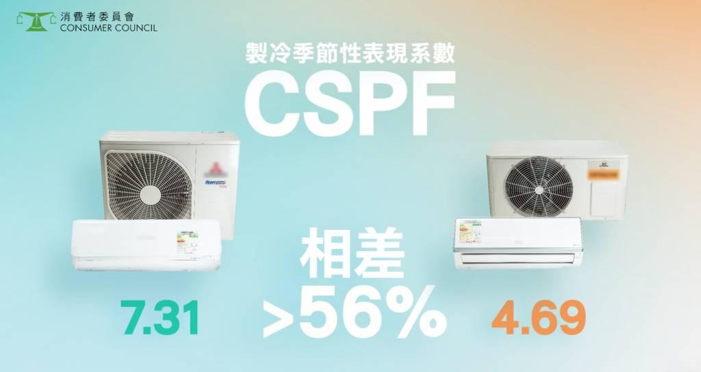 CSPF數值愈高,能源效率愈高,亦即表示愈省電