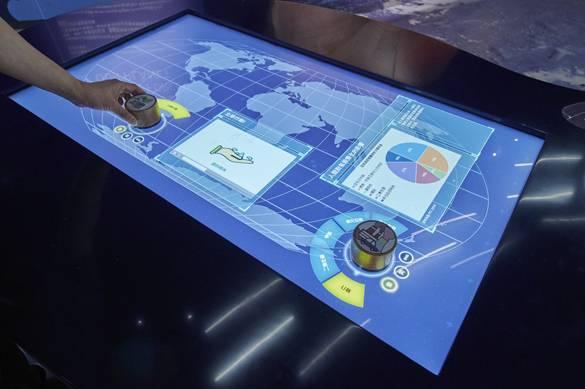颱風互動展示台