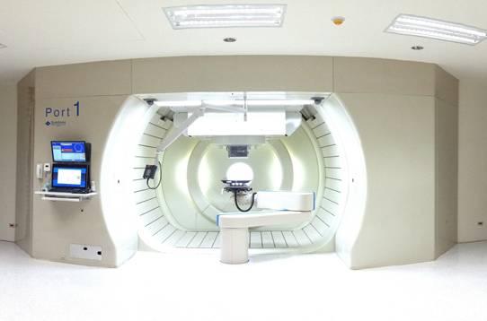 台灣的質子治療機械。