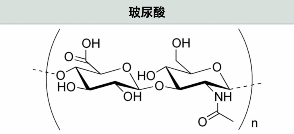 玻尿酸,是一種由(D-葡萄糖醛酸及N-乙酰葡糖胺)基本結構組成的高分子粘多醣。