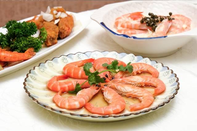 白胡椒白酒海蝦肉質彈牙結實。