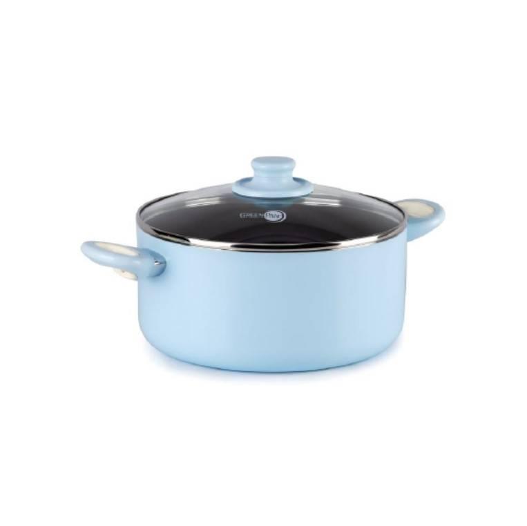 GREENPAN FOCUS PASTEL BLUE 24CM(4.9L) 淺燒鍋(4月28日起發售) 原價:<img width=