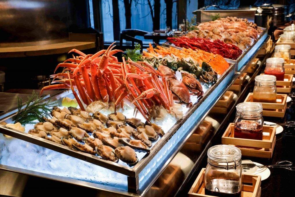 forte全日供應國際美饌,有提供各類海鮮冷盤的自助餐供應。