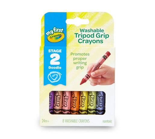 Crayola - Washable Tripod Grip Crayons(Nontoxic)-Stage 2 Doodle (2星)