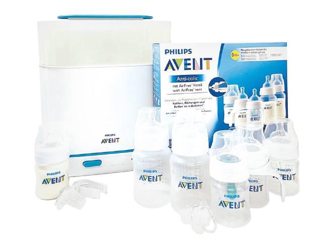 5/29限售: Philips Avent 3合1電子蒸氣消毒器 連Anti-Colic初生嬰兒奶瓶套裝  – 45折特價: 0 (原價: <img width=