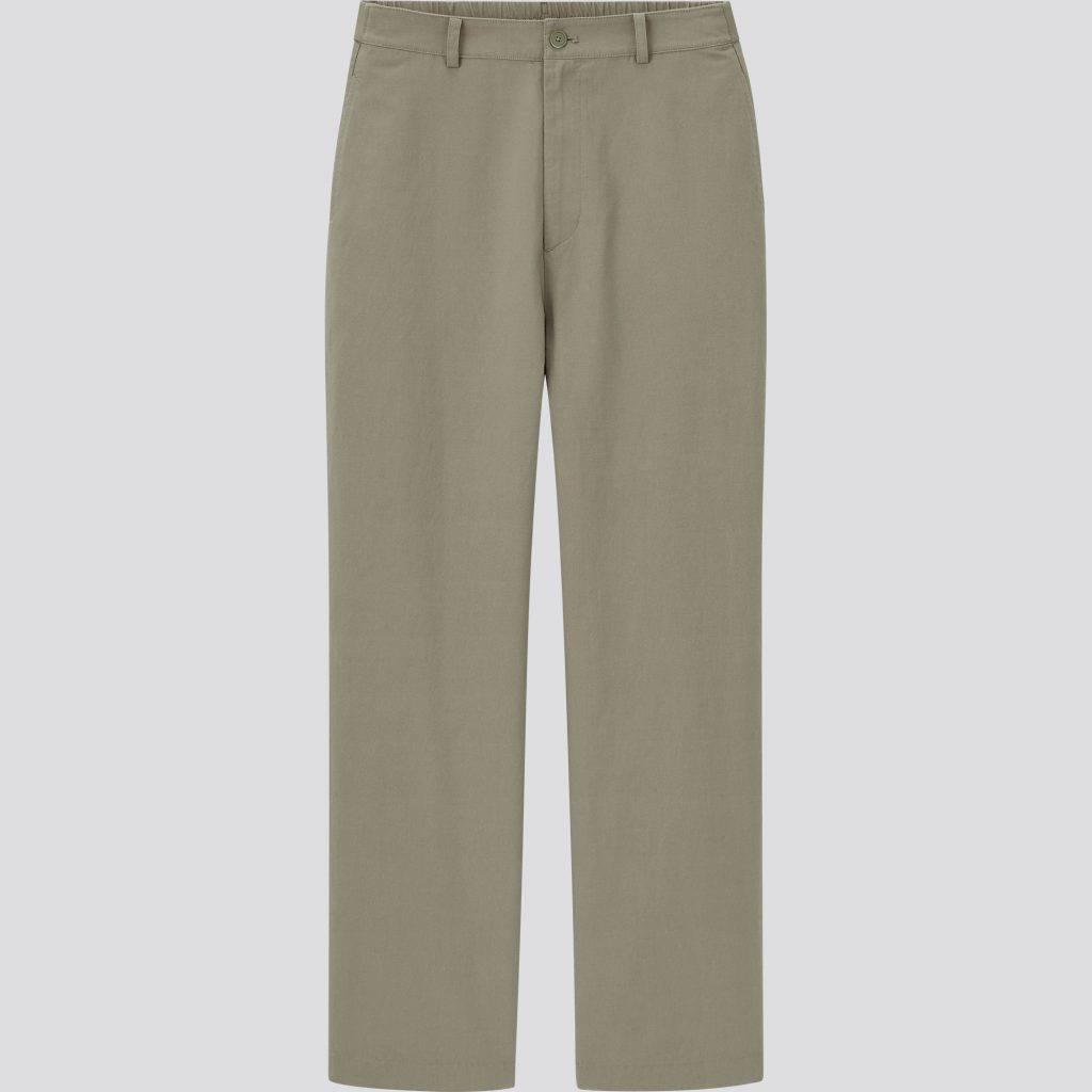 (圖片來源:官方圖片)女裝 麻質混紡輕鬆直腳長褲 (原價 9)