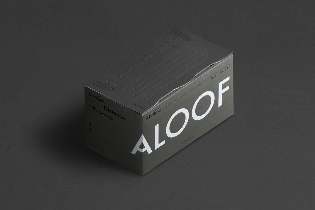 極簡灰「Aloof」口罩。(圖片來源:官方圖片)