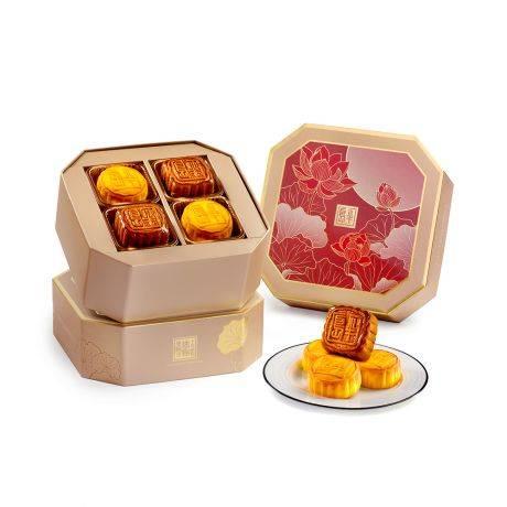 迷你雙輝月餅 – 奶黃、蛋黃金黃蓮蓉各四個(8)(圖片來源:半島酒店)