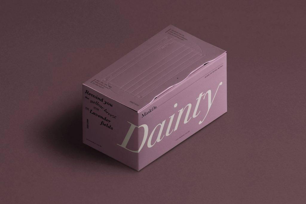 普羅旺斯紫「Dainty」口罩。(圖片來源:官方圖片)