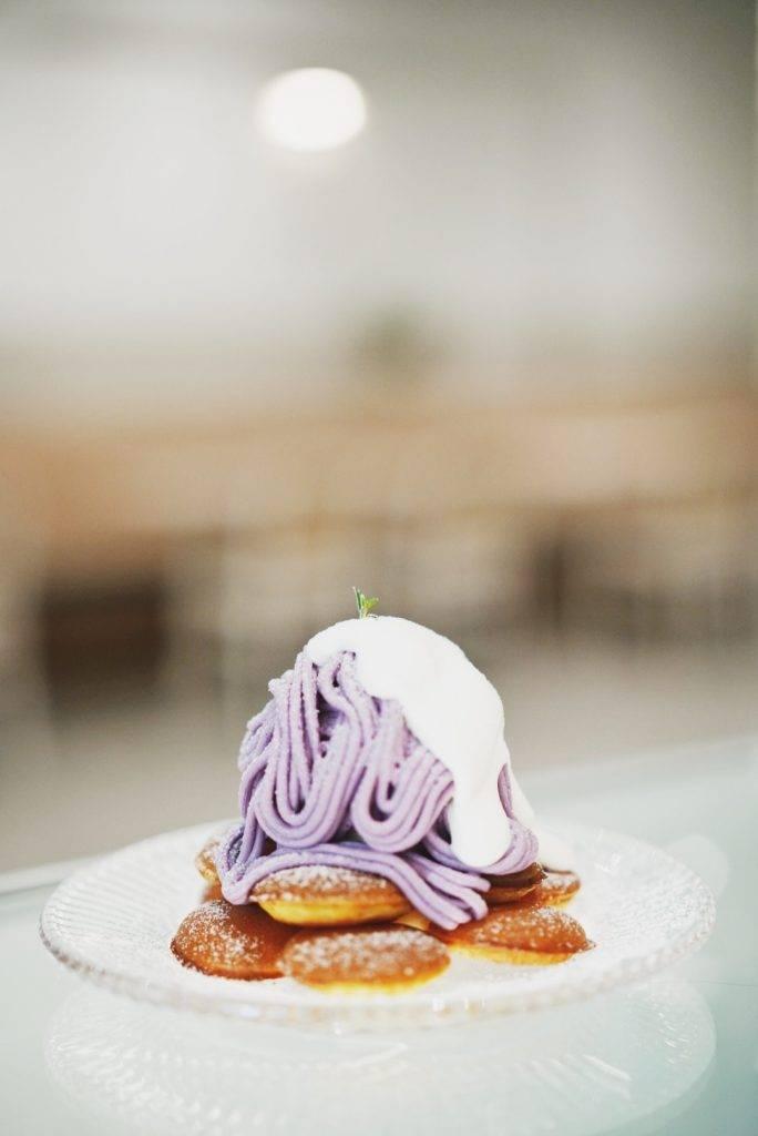紫薯麻糬小鬆餅紫薯量堆成山丘,十分足料!(圖片來源:屋子)