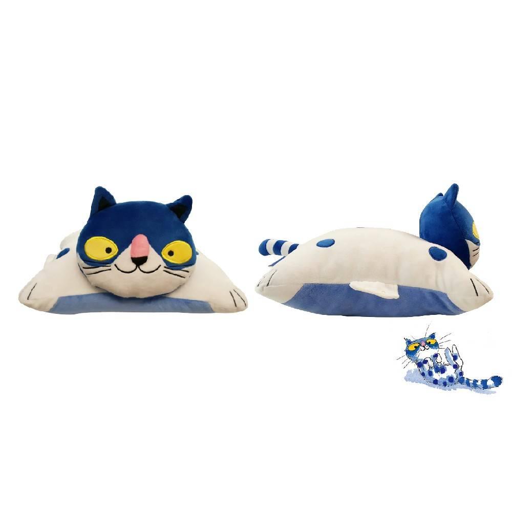 KIDULT繪見幾米俏皮藍點貓趴睡枕 – 折實價(5折): 1.5 (原價:3)
