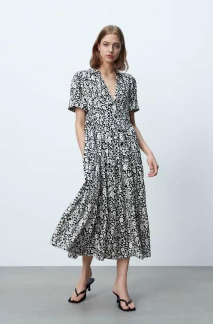 中長版印花連身裙 特價9 (原價9)(圖片來源:ZARA)