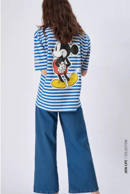 迪士尼©米老鼠圖案T恤特價9 (原價9)(圖片來源:ZARA)