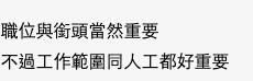 有人認為薪金較職位重要。(圖片來源:香港討論區截圖)
