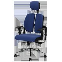 AGIO高背扶手轉椅 (藍色/灰色/黑色) <img width=