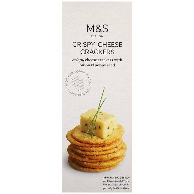 Mark & Spencer Crispy Cheese Crackers(圖片來源:Mark & Spencer Crispy)