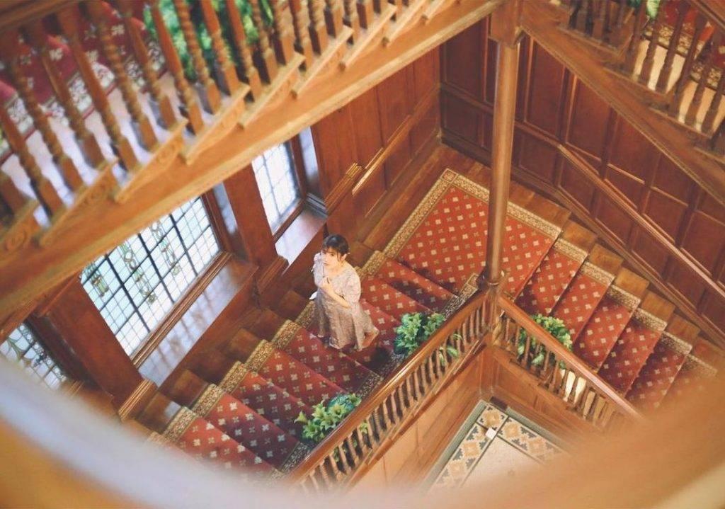 樓梯是另一個重點打卡位。(圖片來源:IG@girlwithdimple_ )