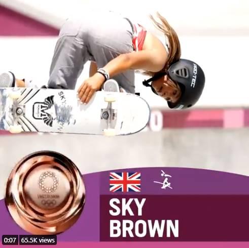 她於奧運奪得銅牌。(圖片來源:Olympics Twitter)