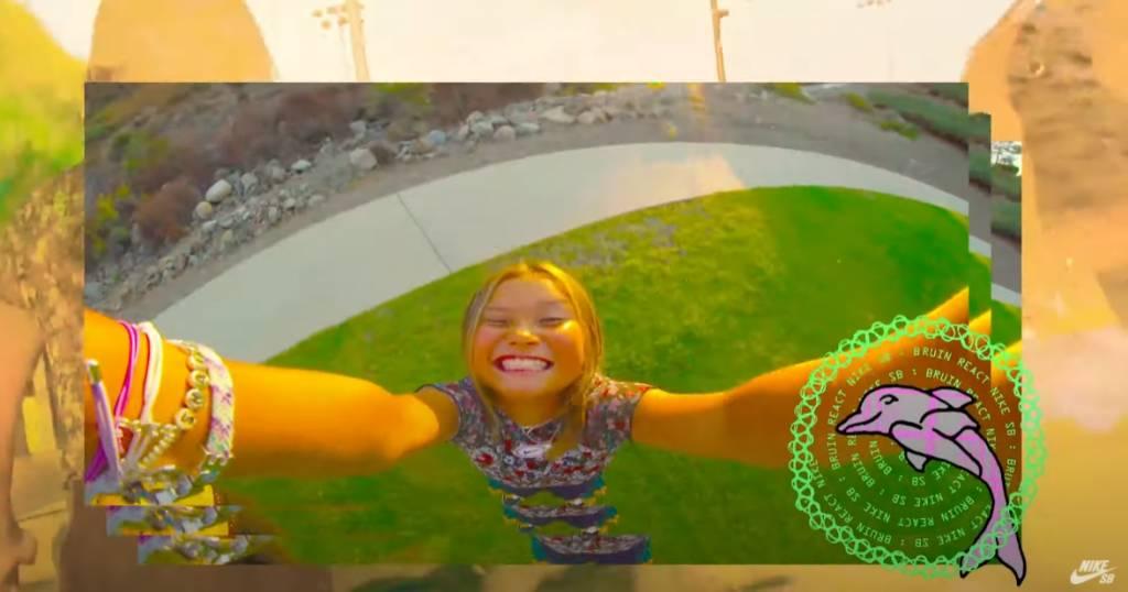 成為NIKE年紀最輕的代言人(圖片來源:nikeskateboarding影片)