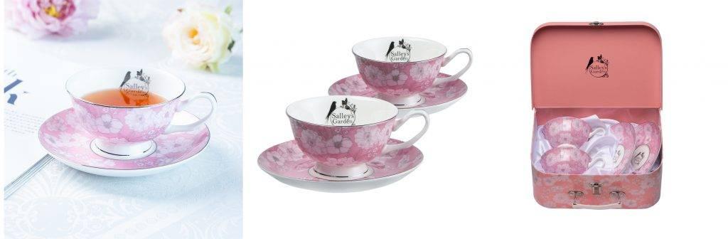 Salley's Garden豪華骨瓷茶杯、茶托禮盒套裝