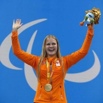 荷蘭泳手Liesette Bruinsma要求重賽。(圖片來源:Twitter@Liesette Bruinsma)