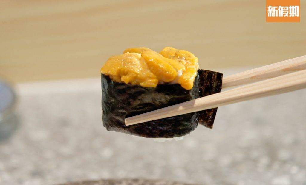 海膽壽司鮮甜肥美。(圖片來源:新假期編輯部)
