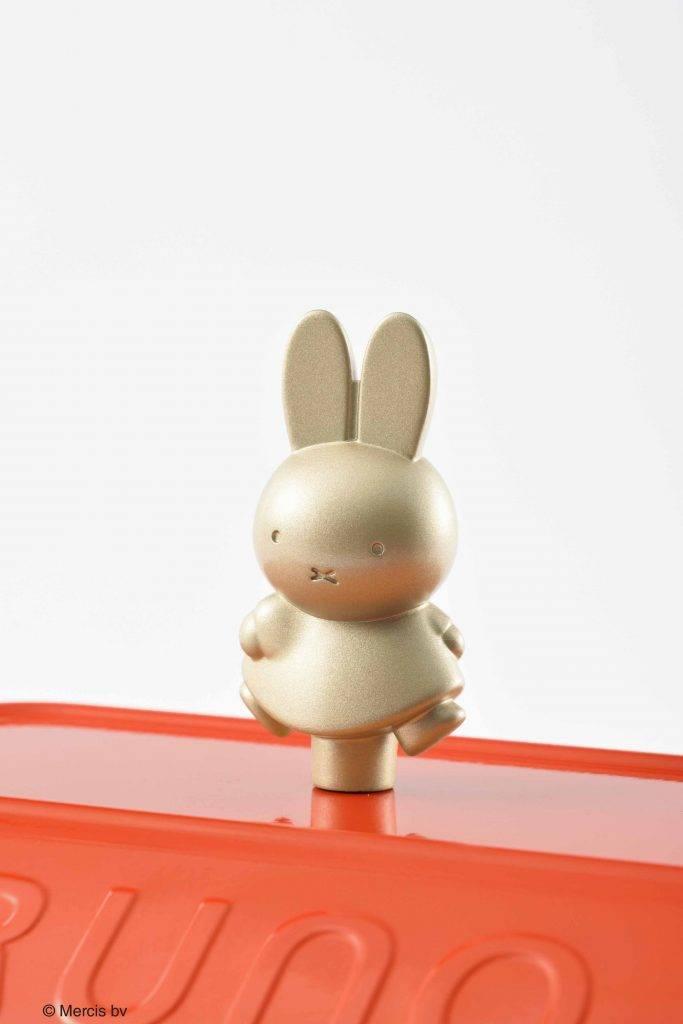 蓋鈕也有可愛的金色Miffy立體造型(圖片來源:BRUNO)