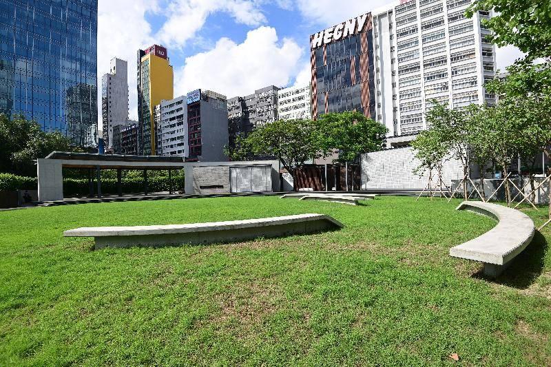 公園內有多用途草地和種植了樹木的園景區。(圖片來源:政府新聞網)