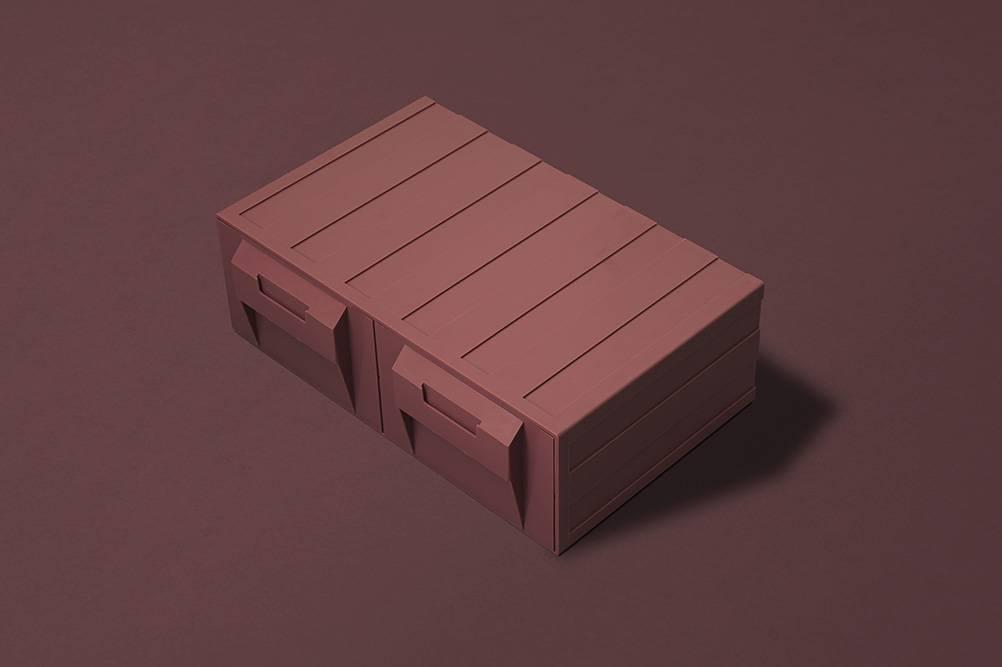 多用途口罩盒,備有「侘寂灰」及「日和粉紅」兩個色調可供選擇。(圖片來源:官方圖片)