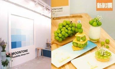 Moontone Cafe激推3款香印提子甜品!拿破崙+乳酪+花形焙茶撻 必到夢幻粉色Pantone板|區區搵食(新假期APP限定)