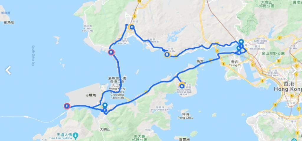 全程76公里,有得食又有得打卡,需時6小時!(圖片來源:ulu travel)