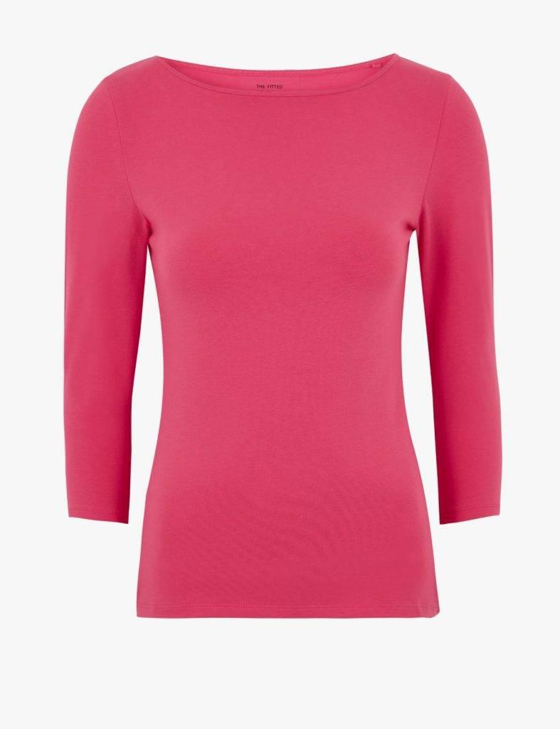 不少基品款式單品都有「新抵價」,包括女裝棉質3/4袖上衣原價9,新抵價。