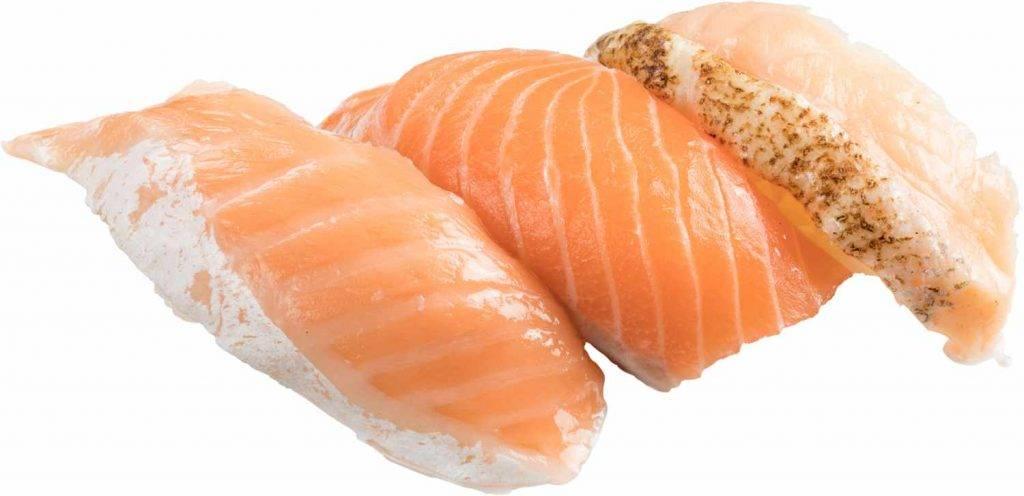 三文魚三味有齊三文魚腩、厚切三文魚、炙燒三文魚,款款魚油香濃。(圖片來源:)